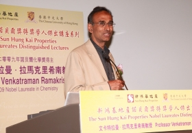 "Lecture by Professor Venkatraman Ramakrishnan on ""How do Antibiotics Block the Protein Factory of Pathogenic Bacteria?"""