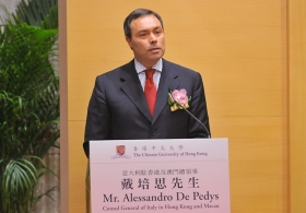 Lecture by Mr. Alessandro De Pedys, Consul General of Italy in HK & Macau on 'Europe and Asia: Challenges for the 21st Century'