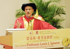 Public Lecture by Professor Louis Ignarro on 'The Road to Stockholm - A Nobel Mission'