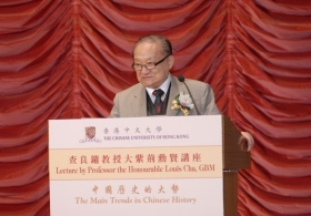 Professor the Honourable Louis Cha Jing-yong, GMB on 'The Main Trends in Chinese History'