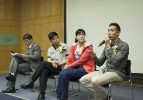 Ms. Yu Chui Yee, Mr. Lee Chi Wo Daniel and Mr. Cheng Ka Ho on 'My Radiant Life in the Sports Fields'