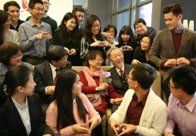Valentine's Day at CWC - Tea Party with Prof. Charles Kao and Mrs. Gwen Kao