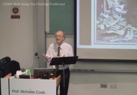 "Prof. Nicholas Cook on ""Music as Creative Practice"""