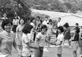 Chung Chi College Human Chain Book Moving