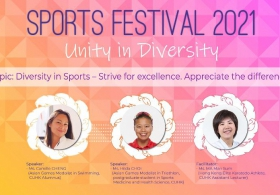 Sports Festival 2021 Opening talk: Diversity in Sports – Strive for excellence. Appreciate the differences