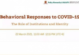 COVID-19 Webinar Series: Behavioural Responses to COVID-19 — The Role of Institutions and Identity